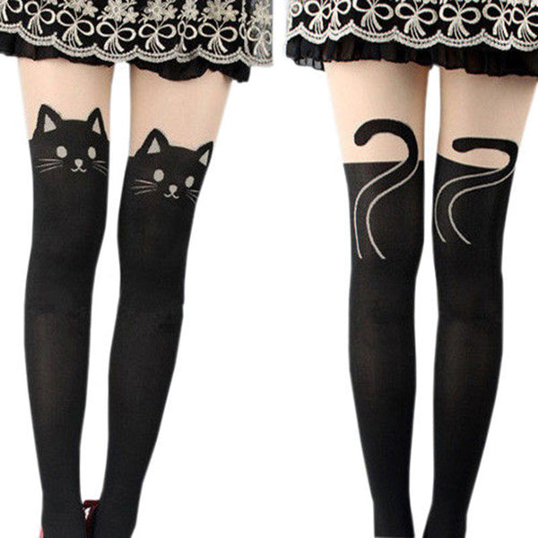 Cute Cat Silk Stockings - Rapture360.com