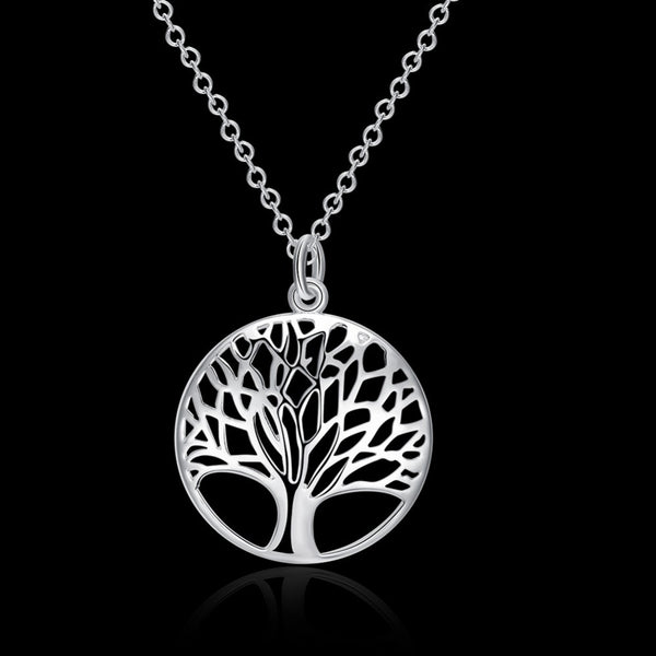Silver Tree Of Life 18 inch Pendant Necklace - Rapture360.com
