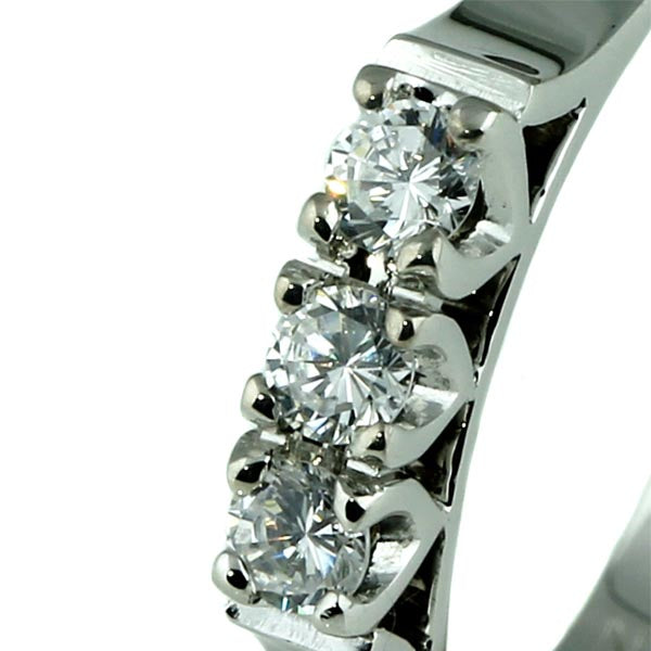Diamond Trilogy White Gold Ring - What Women Want Jewellers