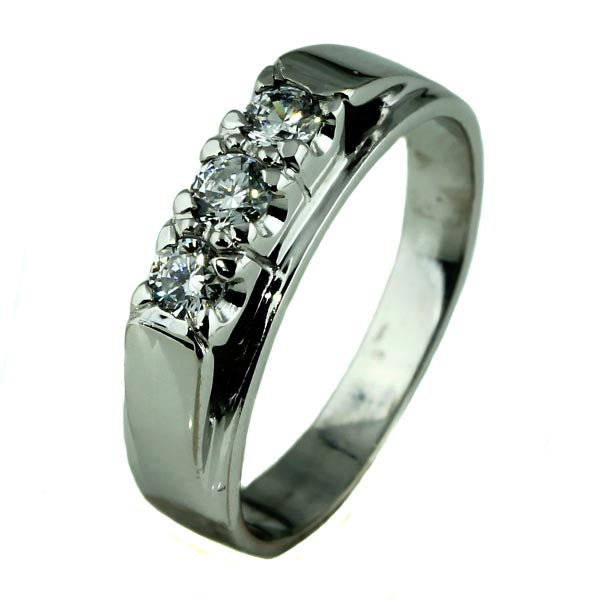 Diamond Trilogy Palladium Ring - What Women Want Jewellers