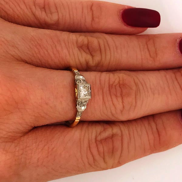 Diamond Vintage Art Deco Gold Ring - What Women Want Jewellers