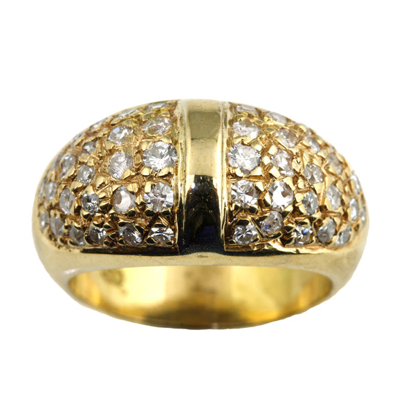 Dome ring with diamonds - What Women Want Jewellers