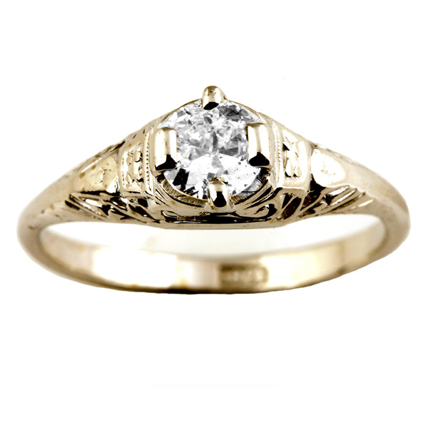 Vintage Diamond Engagement Ring - What Women Want Jewellers