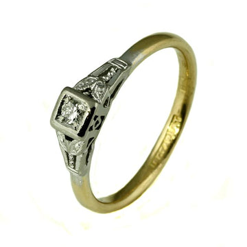 Square Vintage Diamond Engagement Ring - What Women Want Jewellers