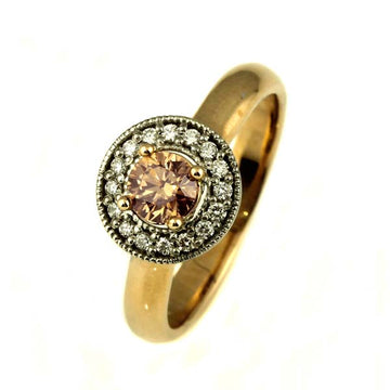 Australian Cognac Chocolate Diamond Ring