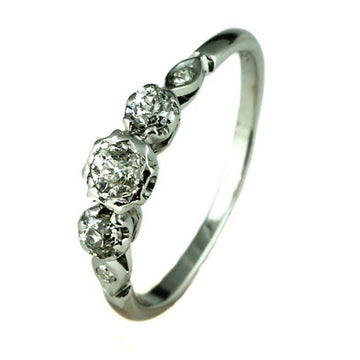 Antique Trilogy Diamond Engagement Ring - What Women Want Jewellers