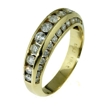 Tripple Channel Eternity Diamond Gold Ring