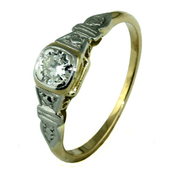 Square Antique Diamond Engagement Ring-What Women Want Jewellers