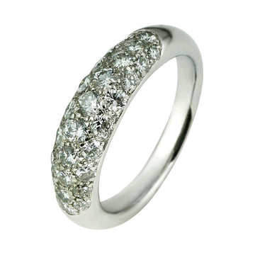 Pave Diamond Dome White Gold Ring