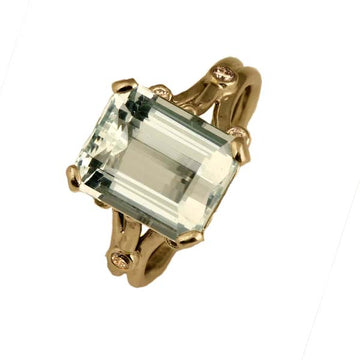Antique Aquamarine Diamond Ring