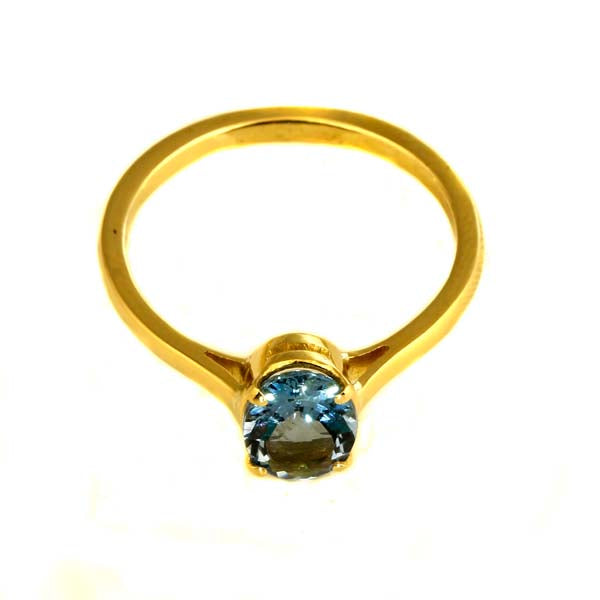Dark blue aquamarine gold ring - What Women Want Jewellers