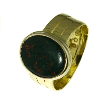 Mens Bloodstone Gold Ring - What Women Want Jewellers