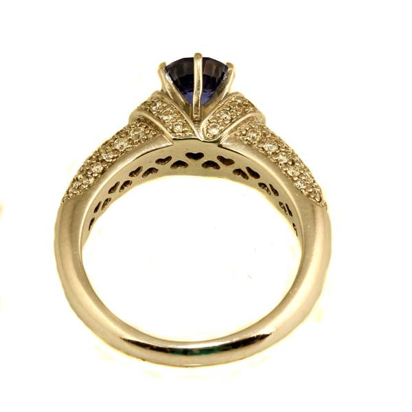 Handmade Tanzanite and Diamond Ring - What Women Want Jewellers