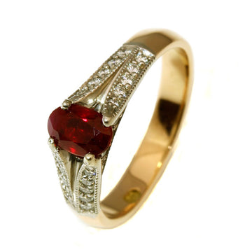 Beautiful vintage ruby diamond gold ring - What Women Want Jewellers