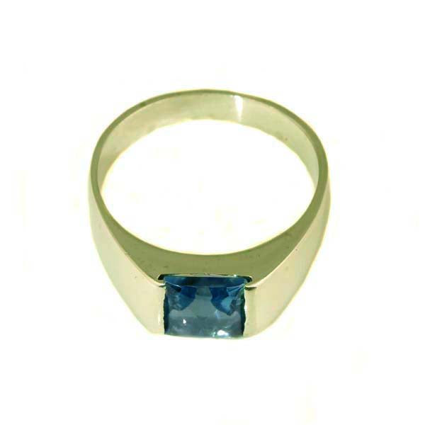 Stunning white gold blue topaz ring - What Women Want Jewellers