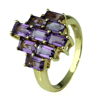 Vintage Amethyst Gold Ring - What Women Want Jewellers