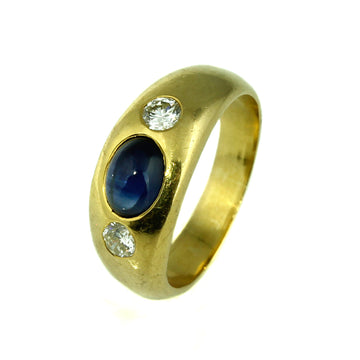 Ceylon Sapphire and Diamond Trilogy Engagement Ring - What Women Want Jewellers