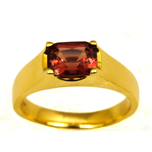 Red Spinel gold engagement ring - What Women Want Jewellers