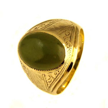Nephrite Jade Men's Signet Ring - What Women Want Jewellers