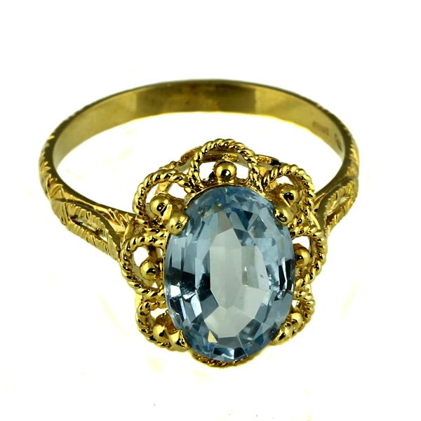 Faceted Oval Topaz Gold Dress Ring - What Women Want Jewellers
