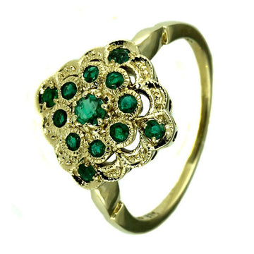 Natural Emerald Gold Ring