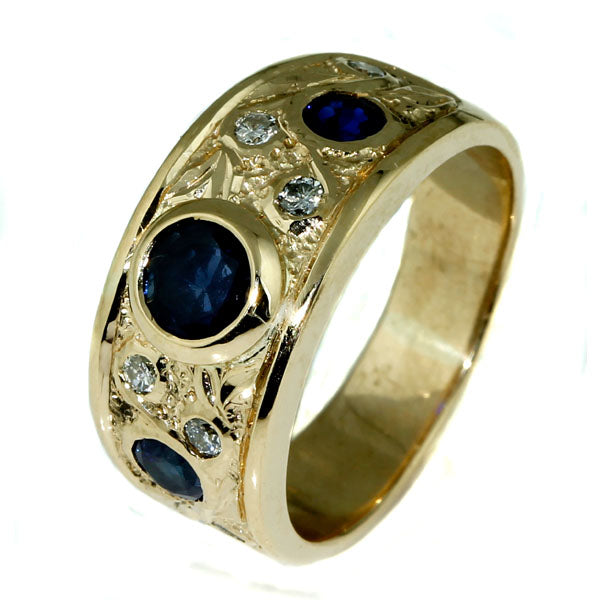 Handmade Australian Blue Sapphire Diamond Ring - What Women Want Jewellers