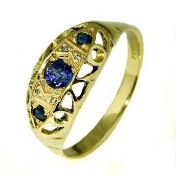 Vintage Blue Sapphire Ring - What Women Want Jewellers