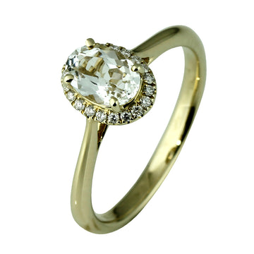 White Sapphire and Diamond Ring - What Women Want Jewellers