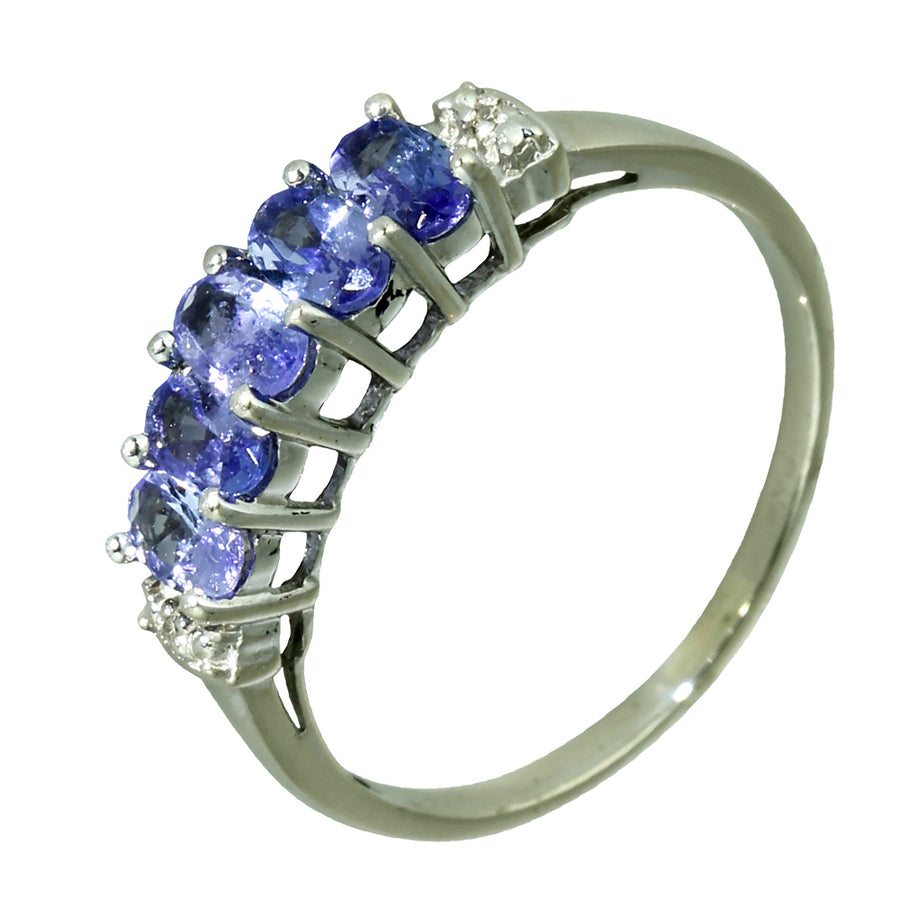 Purple Tanzanite Diamond Bridge Ring - What Women Want Jewellers
