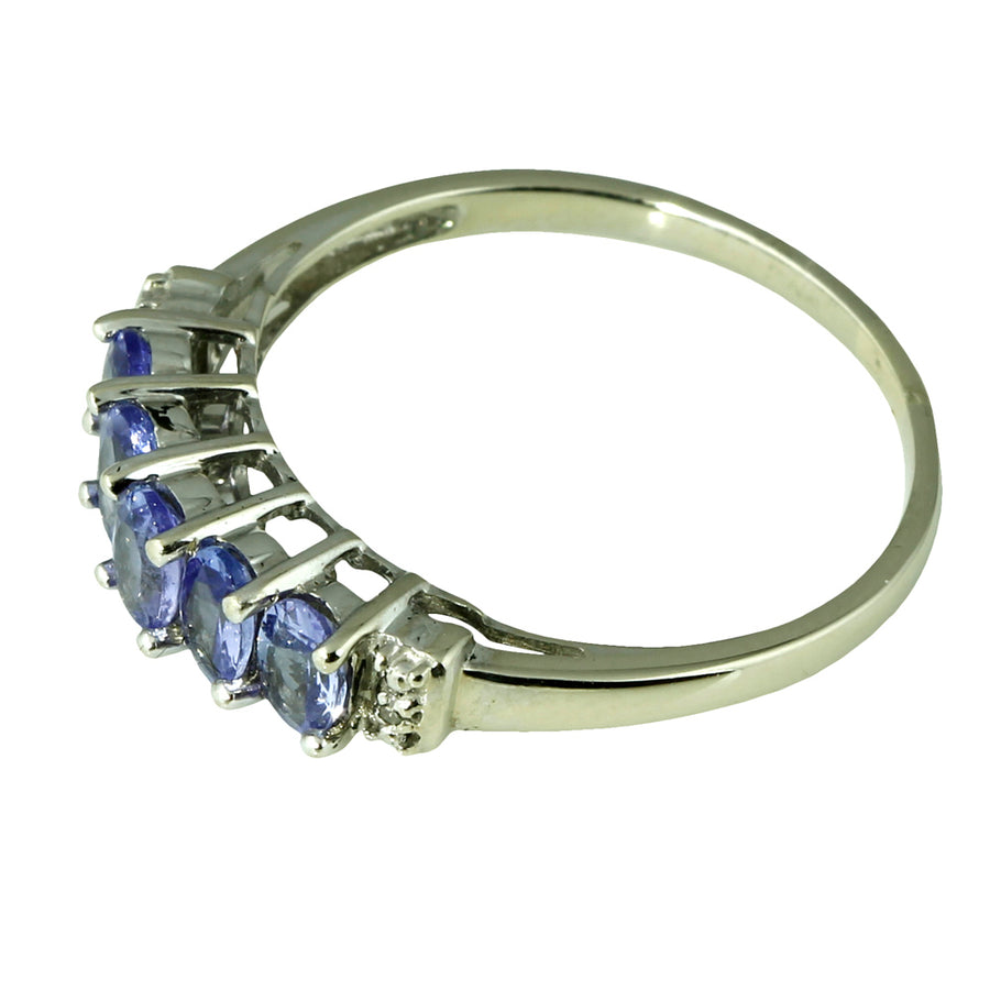 Purple Tanzanite Diamond Bridge Ring
