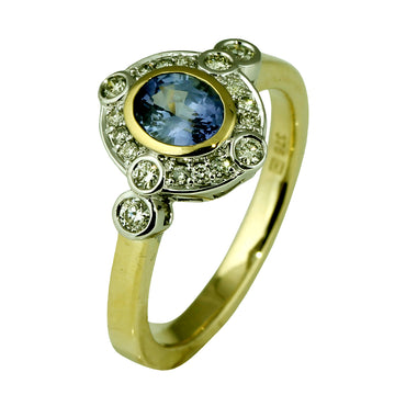 Oval Sapphire Diamond Ring - What Women Want Jewellers