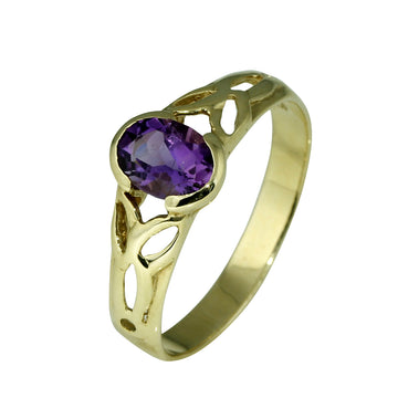Oval Amethyst Gold Ring - What Women Want Jewellers