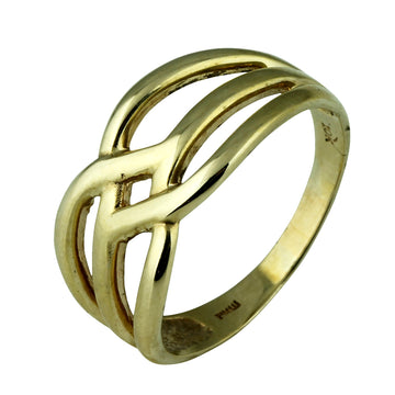 Symetrical Gold Dress Ring - What Women Want Jewellers