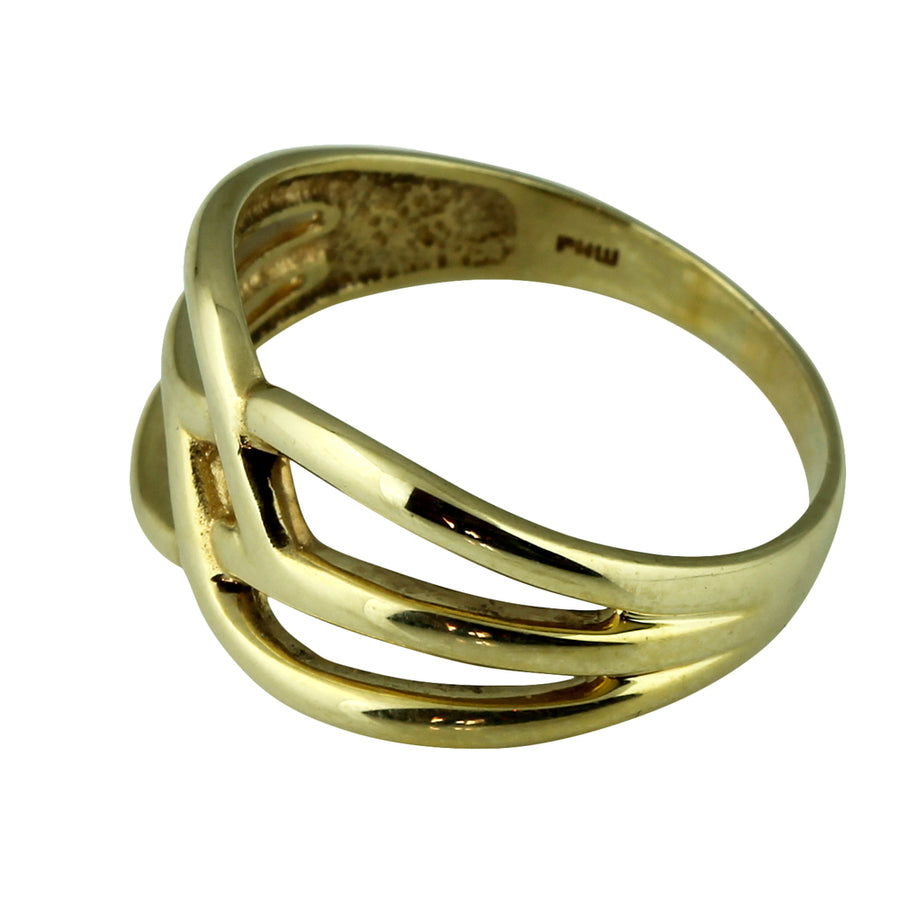 Symetrical Gold Dress Ring