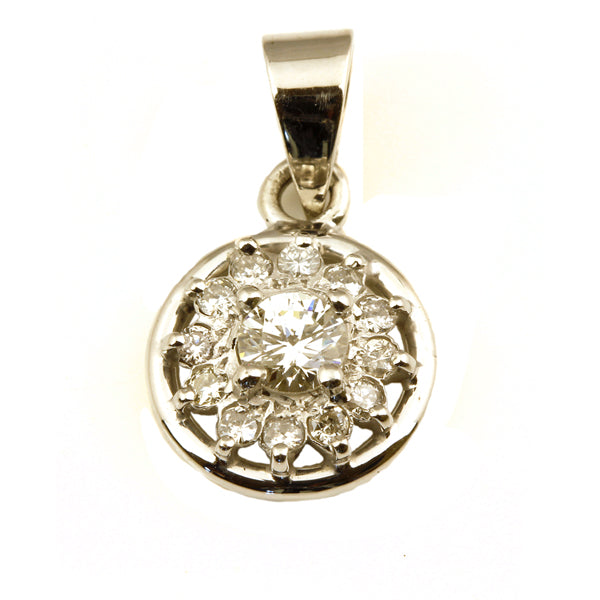 Round diamond cluster pendant - What Women Want Jewellers