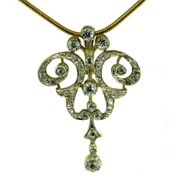 Antique Diamond Gold Pendant-/What Women Want Jewellers