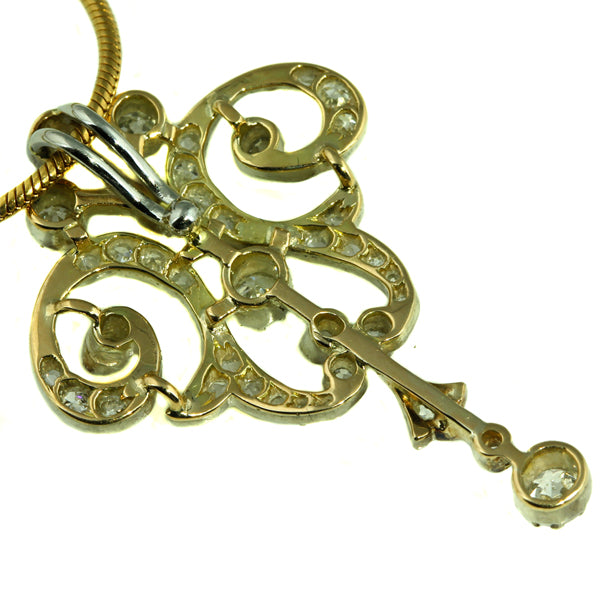 Antique Diamond Gold Pendant