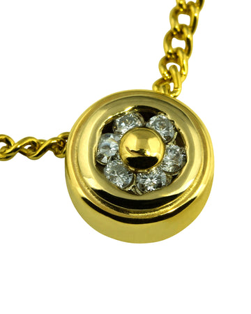 Round Diamond Donut Slider Pendant - What Women Want Jewellers