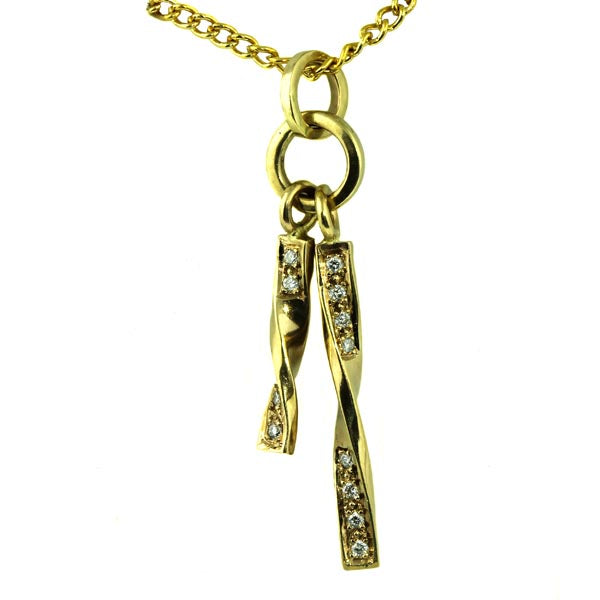 Diamond Gold Drop Pendant - What Women Want Jewellers