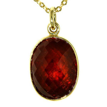 Orange Faceted Carnelian Gold Pendant - What Women Want Jewellers