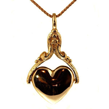 Rose Gold Heart Spinner Pendant - What Women Want Jewellers