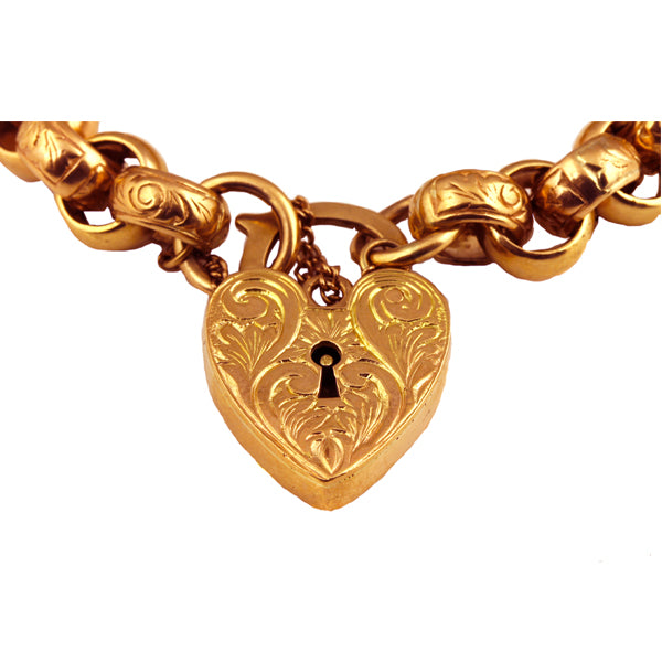 Vintage Engraved Rose Gold Bracelet - What Women Want Jewellers