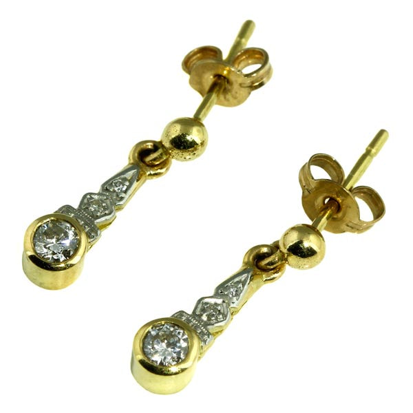 Antique Diamond Gold Stud Earrings - What Women Want Jewellers