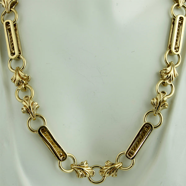Fancy link vintage solid gold chain - What Women Want Jewellers