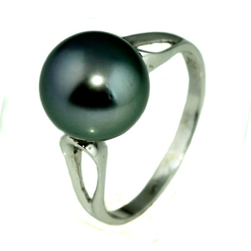 Tahitian Black Pearl Silver Ring - What Women Want Jewellers