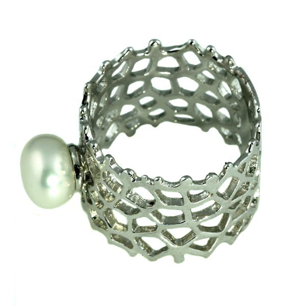 Sterling Silver Pearl Ring - What Women Want Jewellers