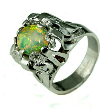 Solid Australian Chrystal Opal Dress Ring