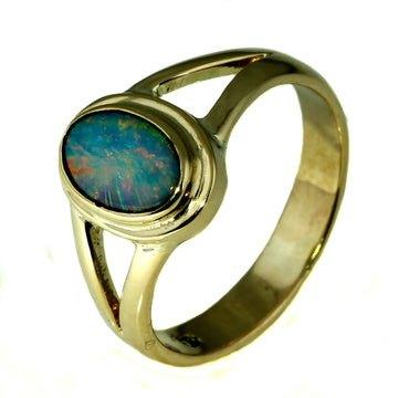 Australian Opal Ring, Pink and Red Opal Ring, Australian Opal Gold Ring, What Women Want Jewellers