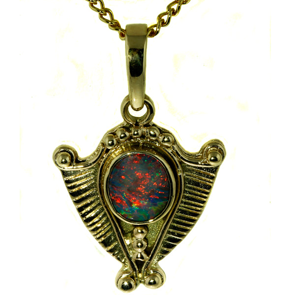 Australian Opal Pendant, Australian Opal Gold Pendant, What Women Want Jewellers