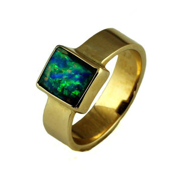 Australian Gold Boulder Opal Ring - What Women Want Jewellers